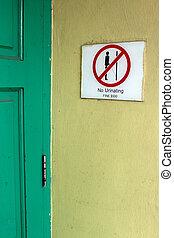 No urinating sign