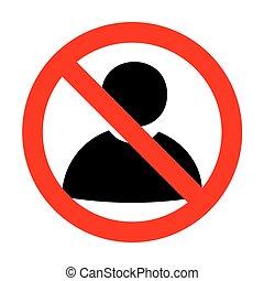 No User sign illustration.