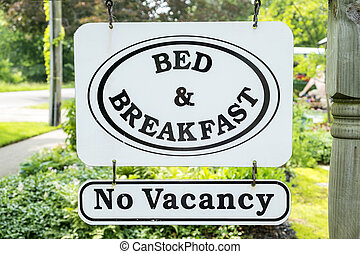 No Vacancy Bed and Breakfast Sign