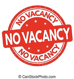 No vacancy sign or stamp