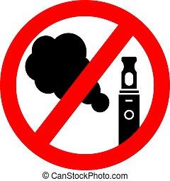 No vape smoking vector sign