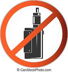 no vaping symbol - Prohibited symbol vapor for the vector