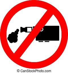 No vaping vector sign