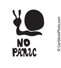 no, vector, slogan., pánico
