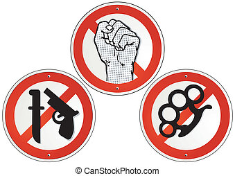 no violence no weapons