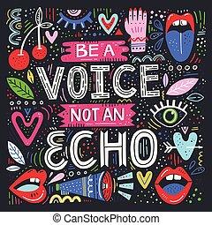 no, voz, eco