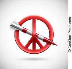 No war, peace sign, eps 10