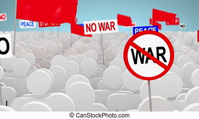 No war, 3d animation