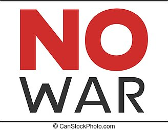 no war message
