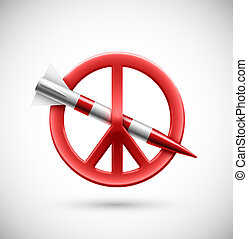 No war, peace sign, eps 10