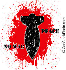 """No war"" poster"