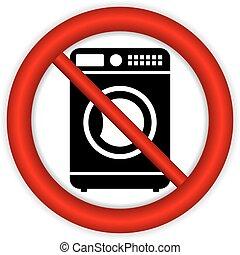 No washing machine icon on white background.
