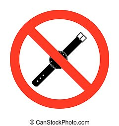 No Watch sign illustration.