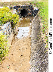 Watercourse - No water flowing through the Watercourse.
