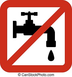 No water tap sign on white background. Vector illustration.