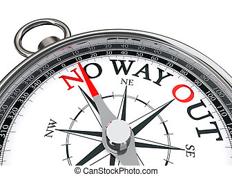 no way out concept compass