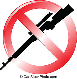 No weapon sign isolated vector