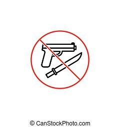 no weapon sign on white background