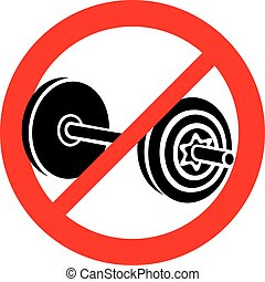 no weight dumbbell sign