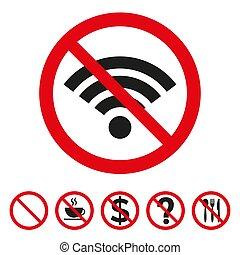 No Wi-fi sign on white background. Vector illustration