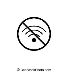 No Wifi line icon, prohibition sign, forbidden