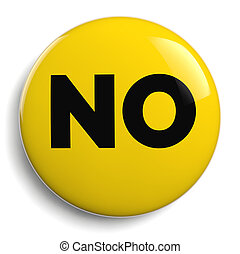 No Word Graphic Symbol Isolated