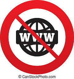 No WWW sign icon. World wide web symbol. - No WWW sign icon....