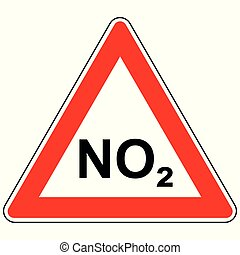 NO2 and attention sign