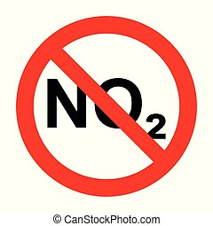 NO2  and prohibition sign