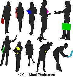 no.2., gente, -, mujeres de la corporación mercantil