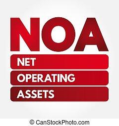 NOA - Net Operating Assets acronym, business concept...