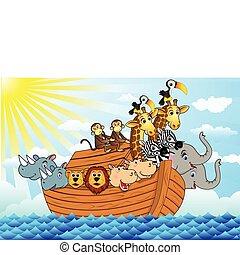 Noah ark - vector illustration of noah ark