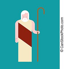 Noah Preacher old man. Bible man saved by God from the Flood