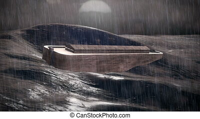 Noah's Ark - 1080p Stock video of Noahs Ark in the Ocean