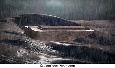 Noah's Ark - 1080p Stock video of Noahs Ark in the Ocean