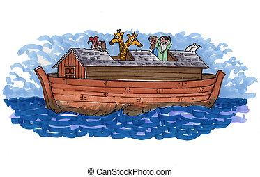 Noah's ark in the ocean