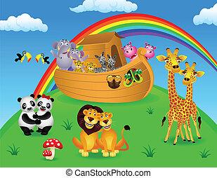 Noah's ark - Vector illustration of Noah's ark