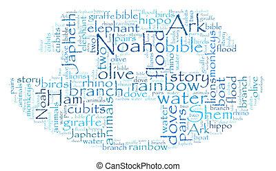 Noah's Ark Word Cloud - Word cloud image of Noah's Ark on ...