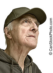 Noble beauty elderly men-purposefulnesses and strong...