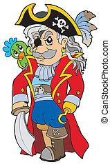 noble, caricatura, corsario