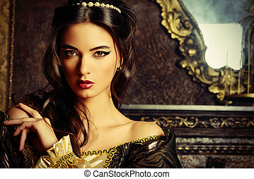 noble woman - Renaissance Style - beautiful young woman in ...