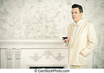 nobleman with cognac