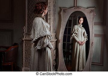 noblewoman, mulher, style., retro