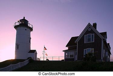 Nobska Lighthouse at Dawn