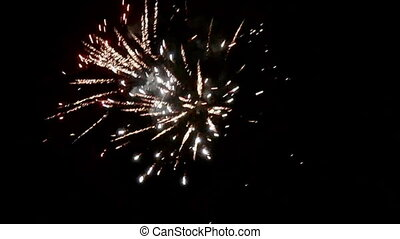 noc, fajerwerki, niebo, nowy rok