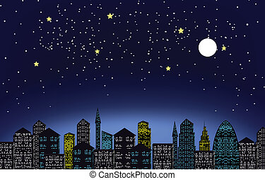 noc, miasto lekkie