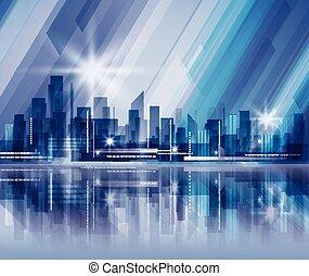 noc, miasto, tło