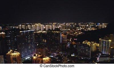 noc, uciekanie się, miasto