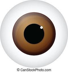 nocciola, occhio