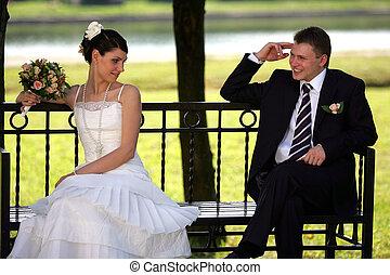 noce blanche, mariée marié